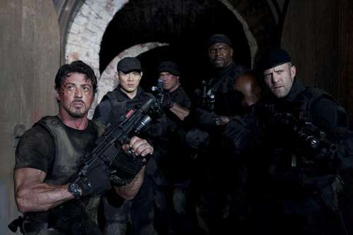 The Expendables - Barney Ross, Yin Yang, Toll Road, Hale Caesar & Lee Christmas / Sylvester Stallone, Jet Li, Randy Couture, Terry Crews & Jason Statham