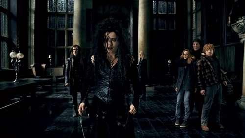 Harry Potter et les reliques de la mort partie 1 - Bellatrix Lestrange, Hermione Granger & Ron Weasley / Helena Bonham Carter, Emma Watson & Rupert Grint