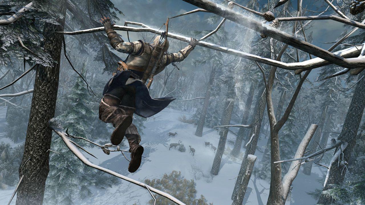Assassin's Creed III - Connor en pleine chasse aérienne