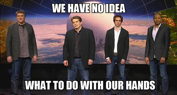 Conférence Playstation 4 - Bungie meme