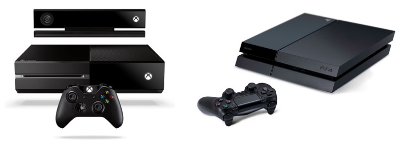 XboxOne et Playstation 4 - Consoles