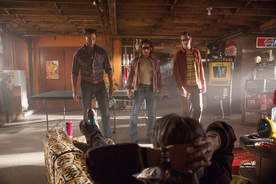 X-Men Days of Future Past - Logan, Charles Xavier, Hank McCoy & Quicksilver / Hugh Jackman, James McAvoy, Nicholas Hoult & Evan Peters