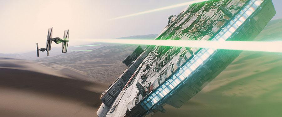 Star Wars VII Le Réveil de la Force - Faucon Millénium Vs Tie Fighter