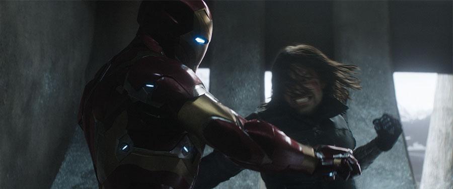 Captain America Civil War - Iron Man & Winter Soldier / Robert Downey Jr. & Sebastian Stan