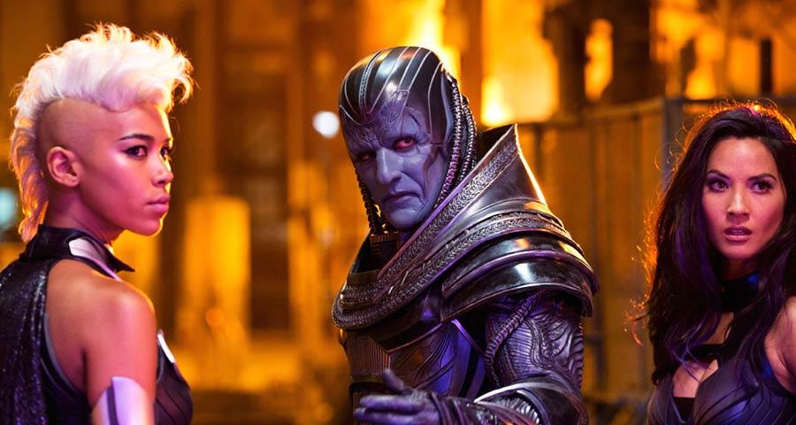 "X-Men Apocalypse - Ororo Munroe ""Tornade-Storm"", En Sabah Nur ""Apocalypse"" & Betsy Braddock ""Psylocke"" / Alexandra Shipp, Oscar Isaac & Olivia Munn"