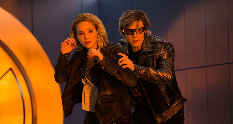 """X-Men Apocalypse - Raven """"Mystique"""" & Peter """"Vif Argent-Quicksilver"""" / Jennifer Lawrence & Evan Peters"""