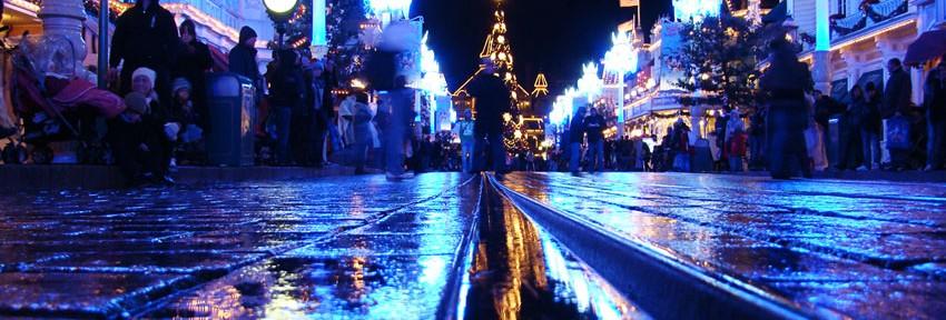 Disneyland 06 - 221109 - Noël - Mainstreet de nuit
