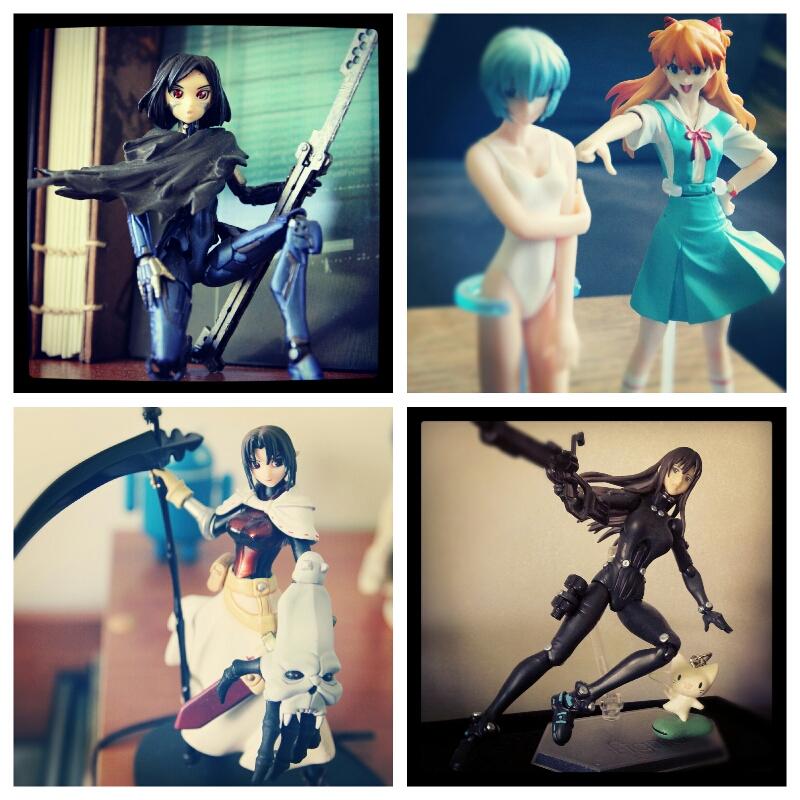 Prochainement sur le blog, des figurines - Gally, Rei & Asuka, Hiro et Reika