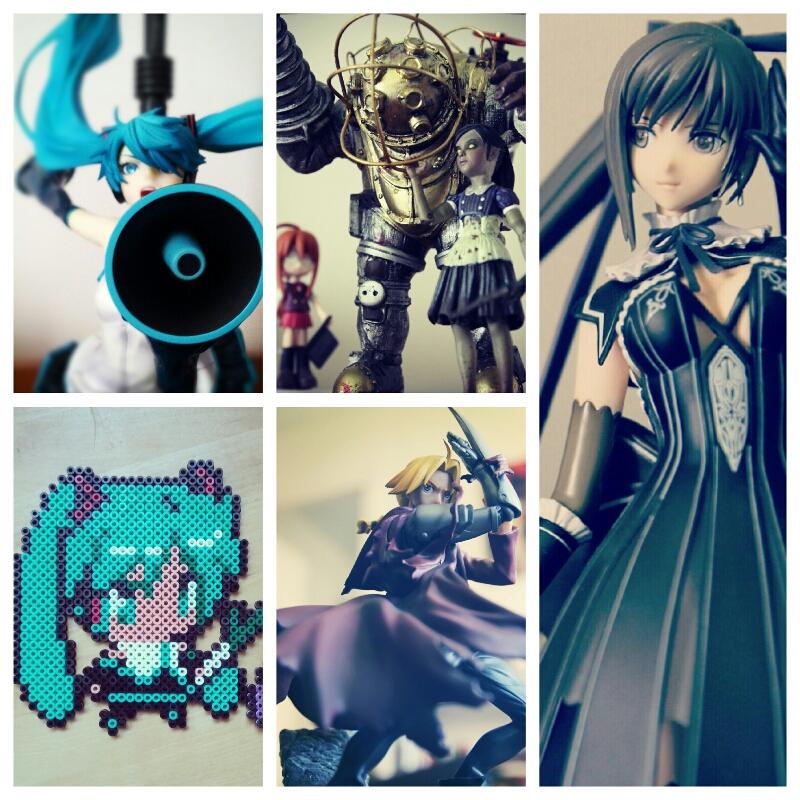 Prochainement sur le blog, des figurines - Hatsune Miku, Big Daddy, Edward Elric & Maxima