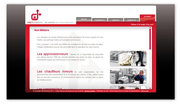 Distriboissons . Site internet Distriboissons.com . Nos métiers