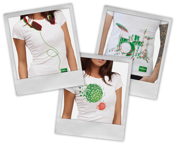 Heineken . Anim'Light 2012 . T-Shirts consommateurs