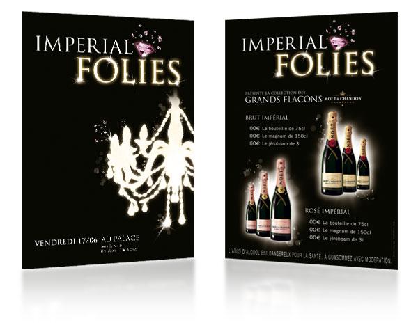 MHD . Moët & Chandon . Soirée Imperial Folies . Affiches