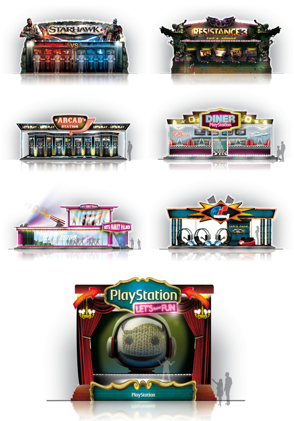 Playstation . Paris Games Week 2011 . Autres stands
