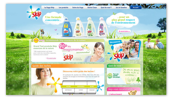 Skip . Site internet Skip.fr . Homepage