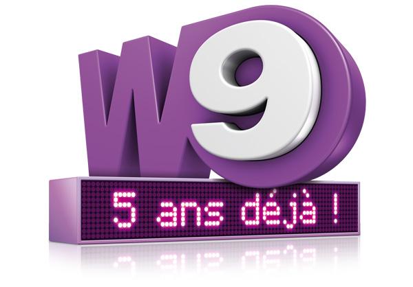 W9 . 5 ans déjà ! . Logo événementiel