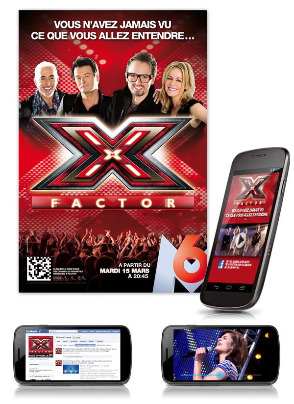 M6 . X-Factor . Affiche réseau étudiant / Site Mobile