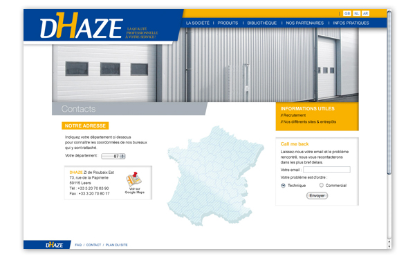 Dhaze . Site internet . Nous trouver