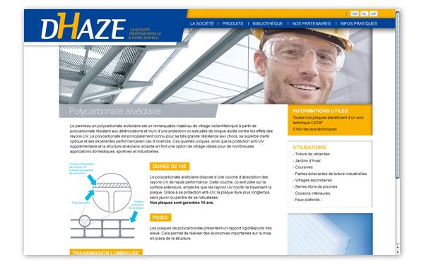 Dhaze . Site internet . Fiche produit