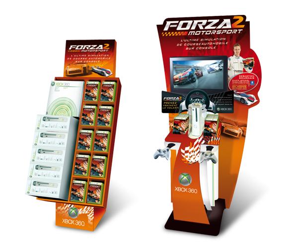 Xbox 360 . Box et borne Forza 2