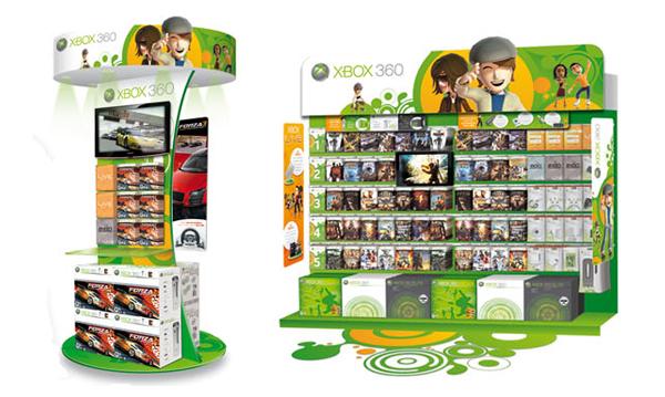 Xbox 360 . Concept Store 2009 . Pole démo & rayon