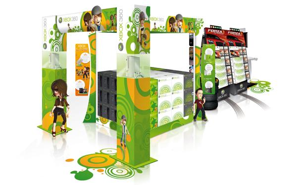 Xbox 360 . Concept Store 2009 . Îlot central