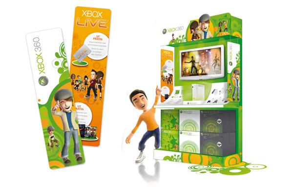 Xbox 360 . Concept Store 2009 . Kakemonos & Tête de gondole